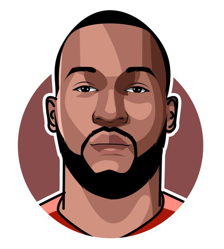 Romelu Lukaku - Soccer player - Profile - Illustration, drawing, digital art piece. - Big Rom