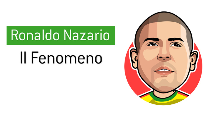 The one and only Il Fenomeno - Illustration.  Ronaldo Luis Nazario de Lima.  Drawing.