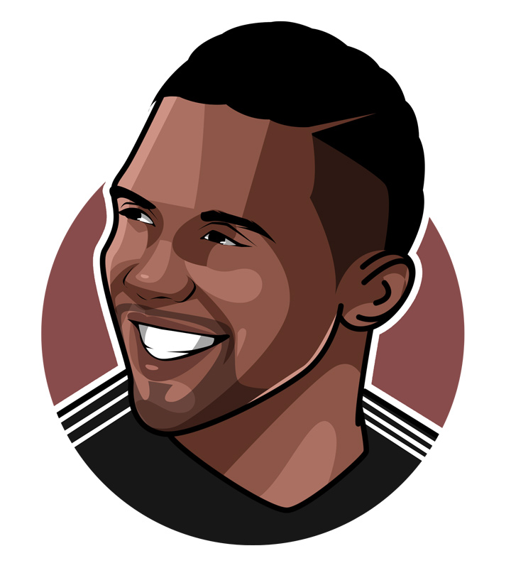 Samuel Etoo profile image.  Illustration.  Drawing.  Art.  Avatar.  One of the best African footballers of all time.