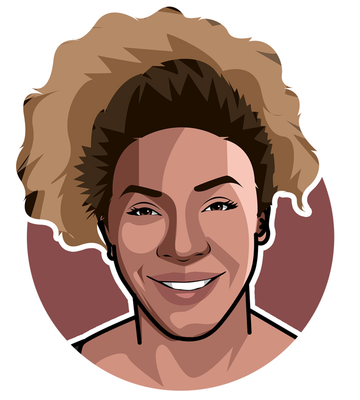 Profile illustration - Serena Williams - Art.  Drawing.  Avatar.  The Mountain That Plays Tennis.