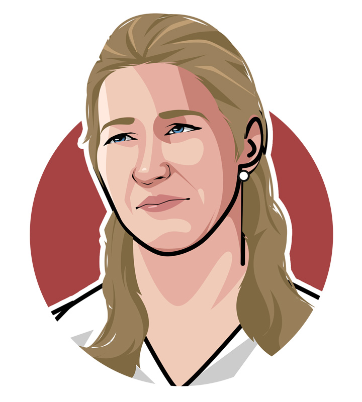 The greatest female tennis player of all time - Steffi Graf - Illustratiotn - Art.  Profile drawing.  Avatar.