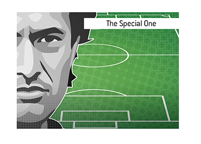 Jose Mourinho most certainly is the Special One.  Illustration.