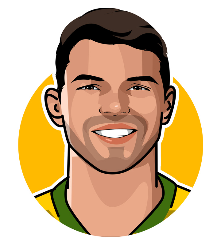 Profile illustration - Thiago Silva - O Monstro - Brazilian footballer.  Drawing.  Art.