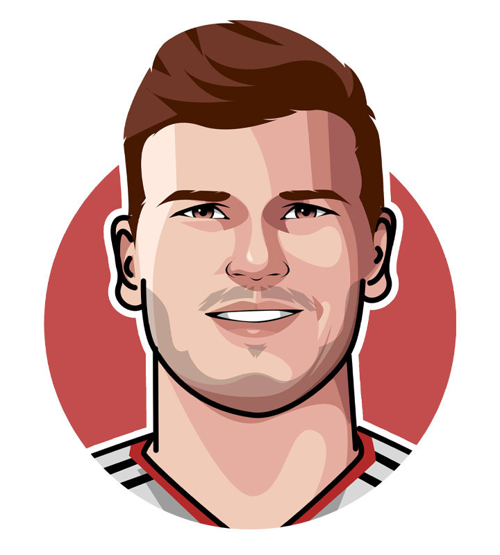Profile drawing of Turbo Timo - Timo Werner - Football player.  Chelsea.  Germany.  Digital art.  Illustration.  Avatar.