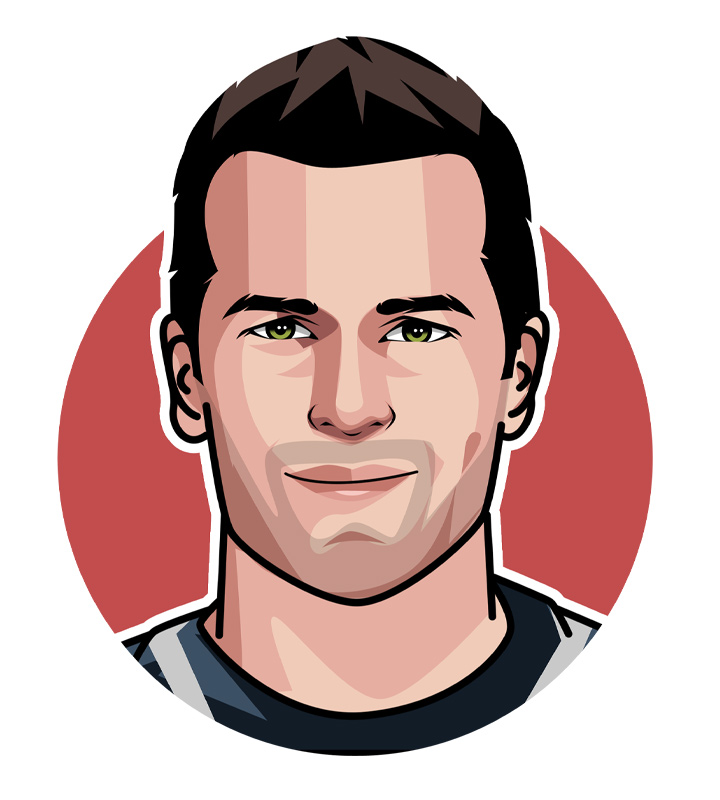 One of the most legendary North American athletes - Tom Brady - Drawing.  Illustration.  Art.  Profile.