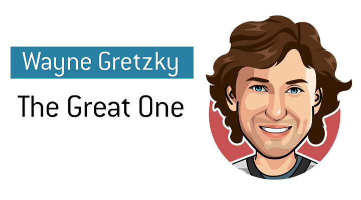 The Great One - Wayne Gretzky - According to many the greatest hockey player in history.