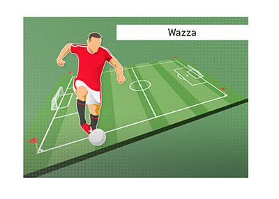Wayne Rooney, also known as Wazza, has left the mark as one of the best and most famous soccer players to come out of England.  Illustration.