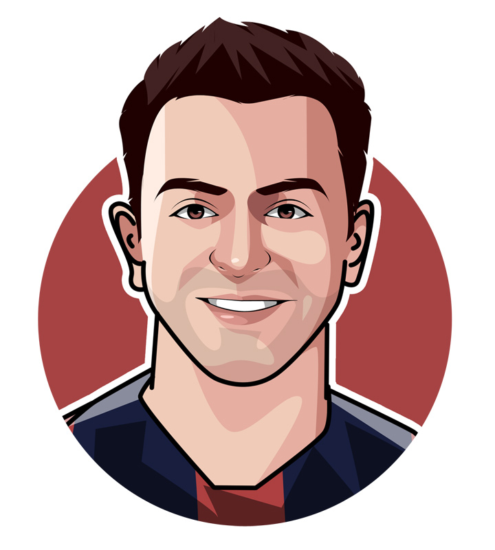 Xavier Hernandez Creus - Xavi - Player illustration.  Profile drawing.  Caricature.  Avatar art.  Barcelona and Spain national team star.  La Masia graduate.