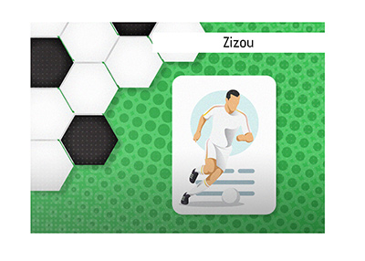 One of the most iconic players of his generation.  Zinedine Zidane aka Zizou.