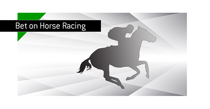 Horse racing in action - Bet on it - Illustration.