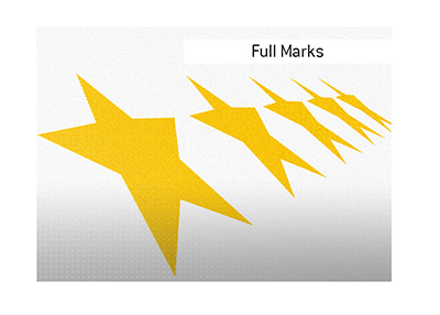 Full marks are awarded for the all around customer experience and trust.  Five stars.